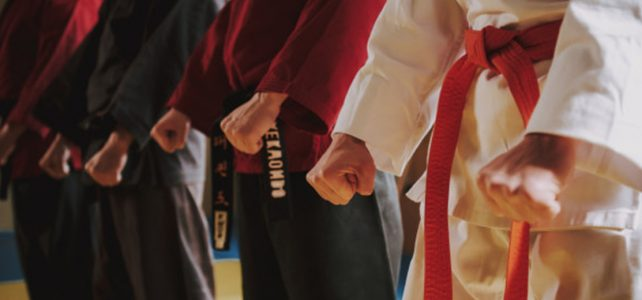 position combat traditionnel taekwondo